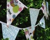 Modern Garden Party Pennant Flag Banner- Ready to Ship