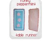 Funky Peppermint table runner pattern
