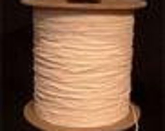 Candle Wick, Wicking - 30ft/10yds - #585 by the foot / yard  Beeswax, Natural Wax