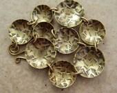 Confetti Textured Brass Disk Bracelet