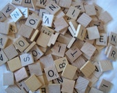 Scrabble Tiles -  10  Wood, Crafts, Jewelry, Mosaics, Charms, Magnet Art