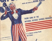 Vintage 1941 Sheet Music Any Bonds Today