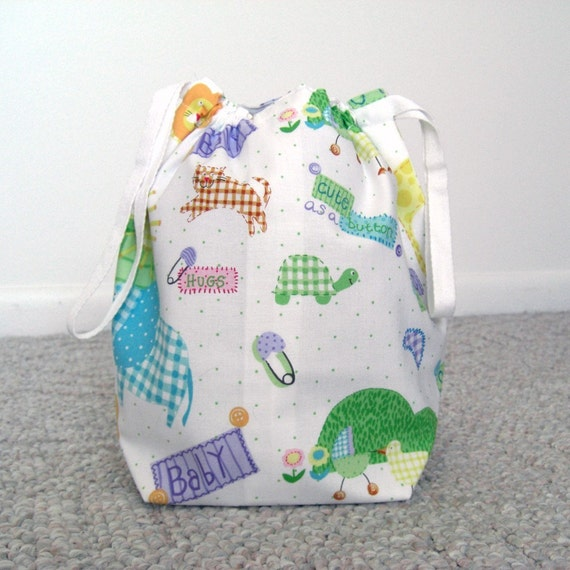 CLEARANCE - Cute Baby Drawstring Knitting Project Bag