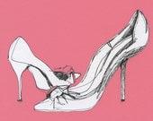 Pink Shoes - Print of Original Illustration