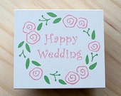 Bridale stamp - Happy wedding and rose