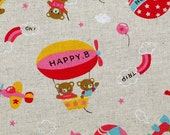 Happy Bear - Japanese fabric