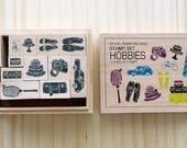 NEW - Wooden boxed - Hobbies Stamps