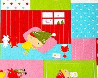 Half Yard - Cute north european children - Japanese fabric