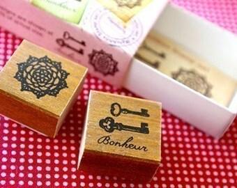Matchbox Style Stamp Set - Antique
