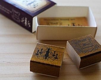 NEW - Matchbox Style Stamp Set - Chandelier