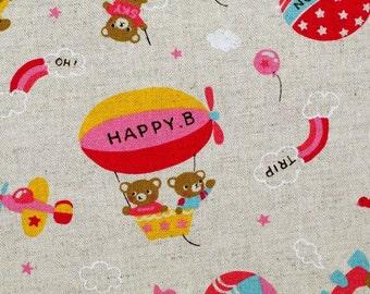 Happy Bear - Japanese fabric