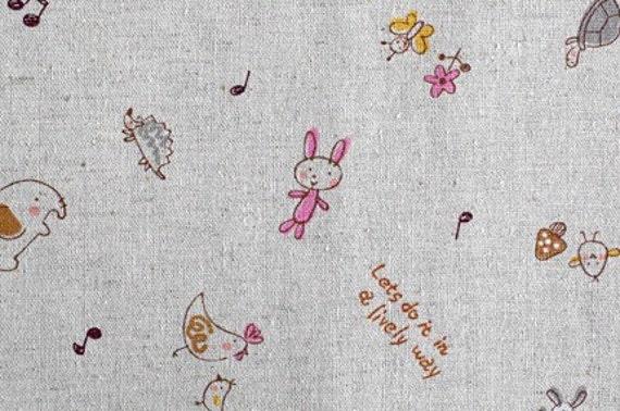 Cute animals - Japanese fabric