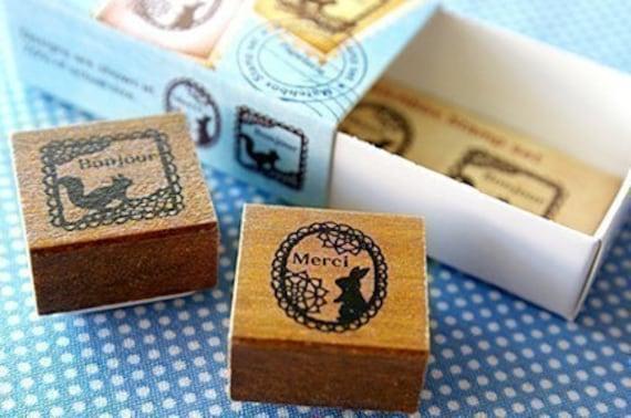 Matchbox Style Stamp Set - Lace
