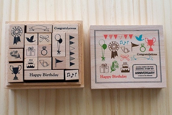NEW - Wooden boxed - ANNIVERSARY Stamps