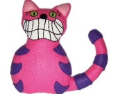 Cheshire Cat Felt Doll