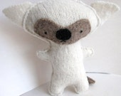 White Fox - Recycled Wool Plush Toy