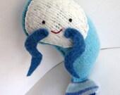 Blue Shrimp - Recycled Wool Plush Toy