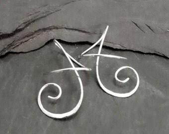 Sterling Dangle Earrings  SOUTHERN BREEZE Twirl-in Fun Casual Earrings