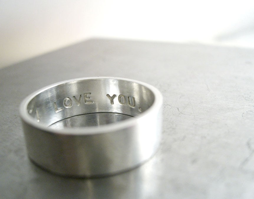 secret promise ring one ring custom size and sentiment