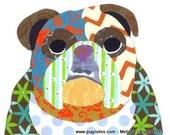 Collage Print - English Bulldog