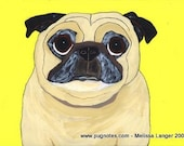 Fawn Pug Note Cards - 3 Designs - Senior Pugs