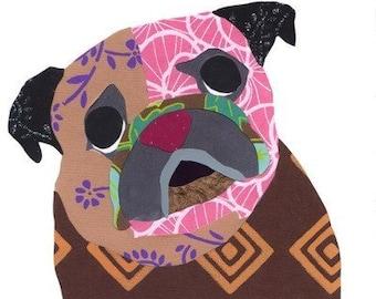 Pug Collage Print - A67