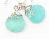 Chalcedony and Sterling Earrings