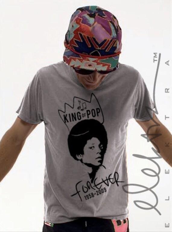 Michael Jackson tribute shirt - grey vintage wash - unisex L - last one