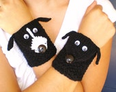 Handmade Knit Wrist Cuff Wallet / Cozy / Case (for MP3, iPods, etc.) Choice of Copper or Cody