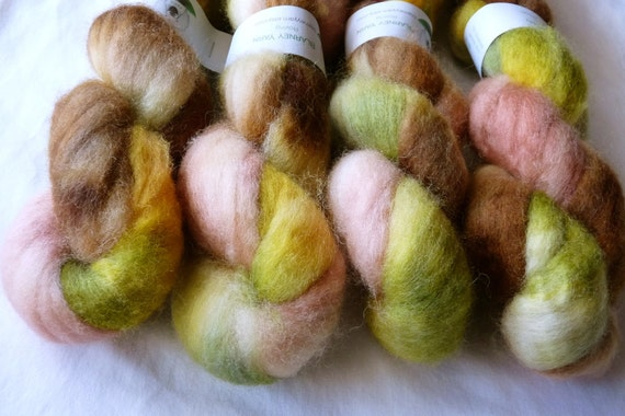 Handpainted Roving - 1.9 oz. Bluefaced Leicester Wool in Autumn II by Blarney Yarn