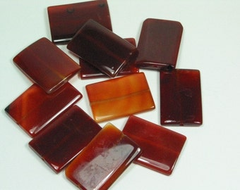 Carnelian Rectangle Beads