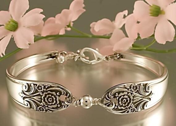 Silver Spoon Bracelet MELODY Jewelry Vintage, Silverware, Gift, Anniversary, Wedding, Birthday