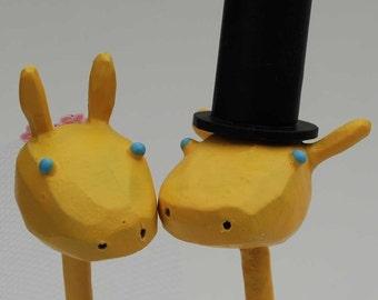 Bride and Groom Giraffes