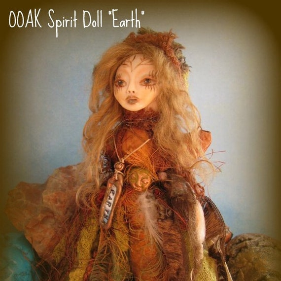 OOAK 4 Elements Spirit Doll   EARTH Element
