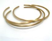 Modern Stackable. Brass. Bracelets.