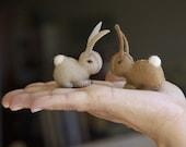 Wool Felt Eco Friendly Bunny by Julie Blanchette on Etsy
