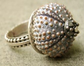 Sea Urchin Collection-Sterling Silver Grey Ring