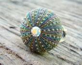 Sea Urchin Ring - Sterling Silver Multicolor Jewelry