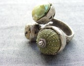 Sea Urchin Collection-The Green Trio Ring