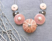Sea Urchin Collection - Special Pink Enamel Necklace