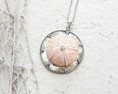 Sea Urchin Collection - Pink Sterling Silver Necklace