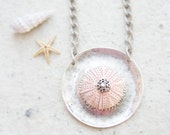 Sea Urchin Collection- Big Pink Round Necklace