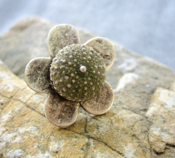 Sea Urchin Collection- Green Flower Ring