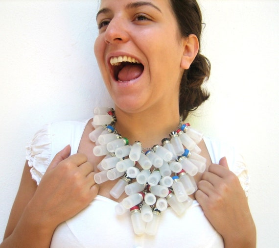 Give Me My Medicine- Recycled Upcycled Statement Necklace