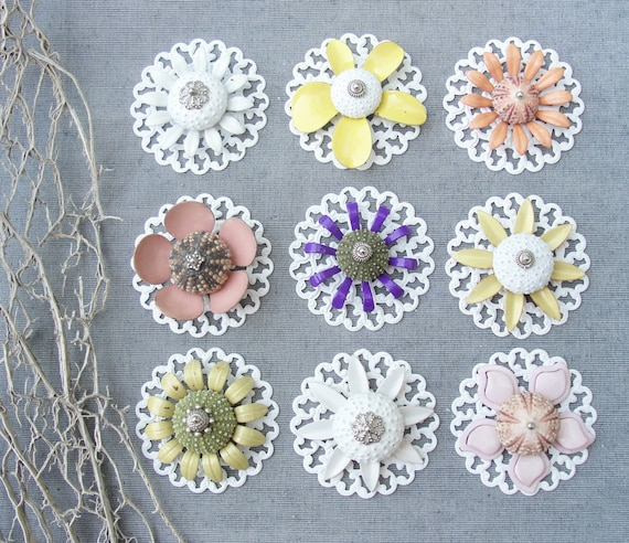 Sea Urchin Collection - Pick Your Own Flower Necklace (Ooak)