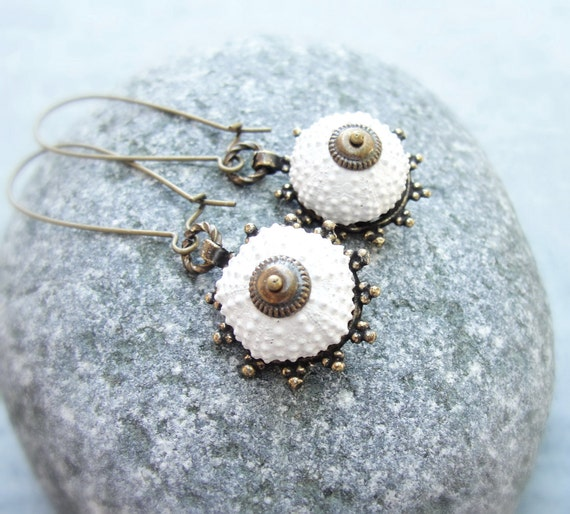 Sea Urchin Earrings - Special White Earrings