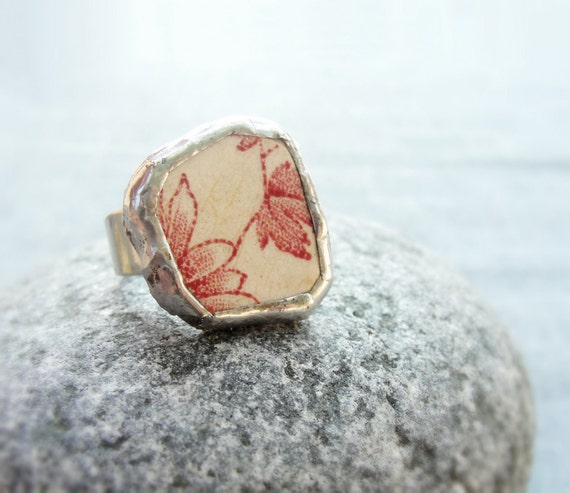 Sea Treasure Collection - Soldered Beach Pottery Ring