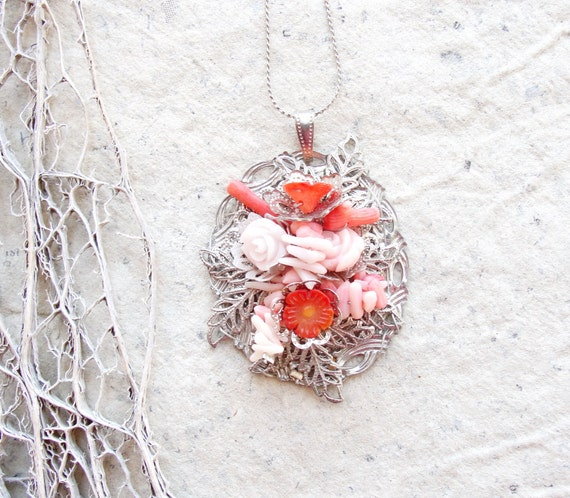 Mermaid's Garden Coral Necklace