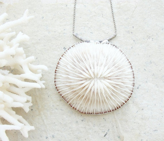 Sea Treasure Collection - Soldered Mushroom Coral Necklace