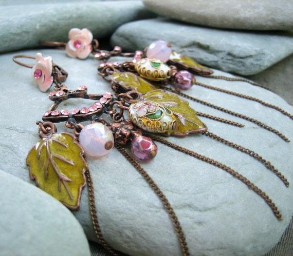 Fresh Garden Enamel Earrings